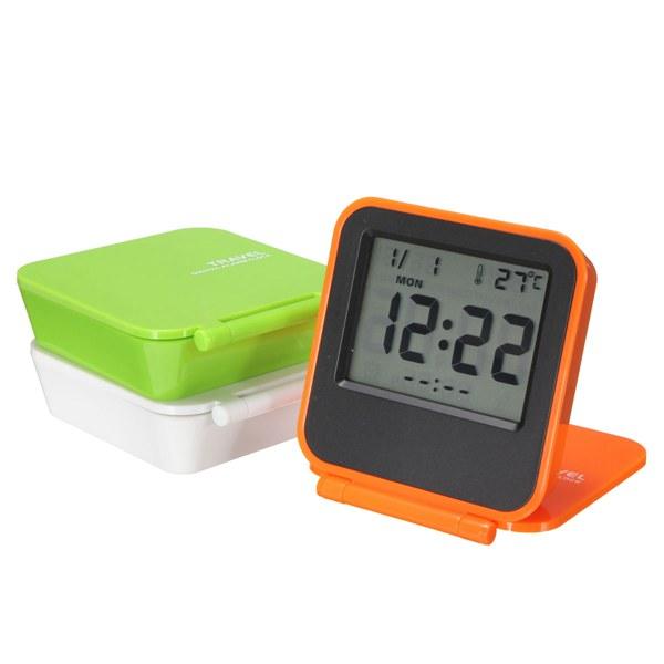 digital clocks clock radios foldable lcd digital travel desk alarm cl. Black Bedroom Furniture Sets. Home Design Ideas