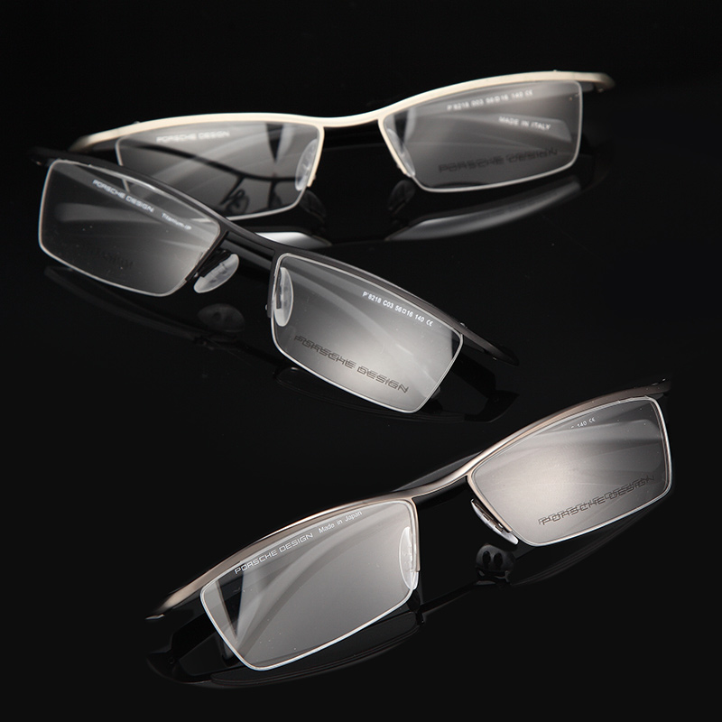 Titanium Alloy Super Lightweight Spectacles Glasses Frame Half-Rim Eyeglass Eyewear