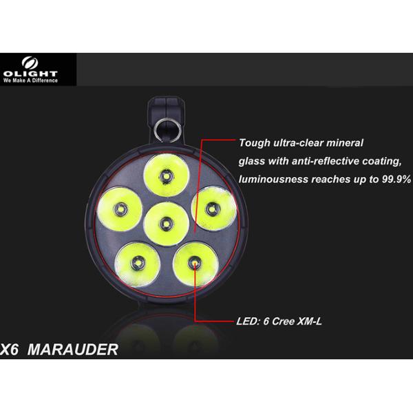 Olight X6 Marauder 6x CREE XM-L T6 5000LM Rechargeable LED Flashlight