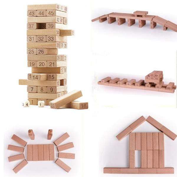 Mini Tumbling Stacking Tower Assemblage Wooden Figure Block Building
