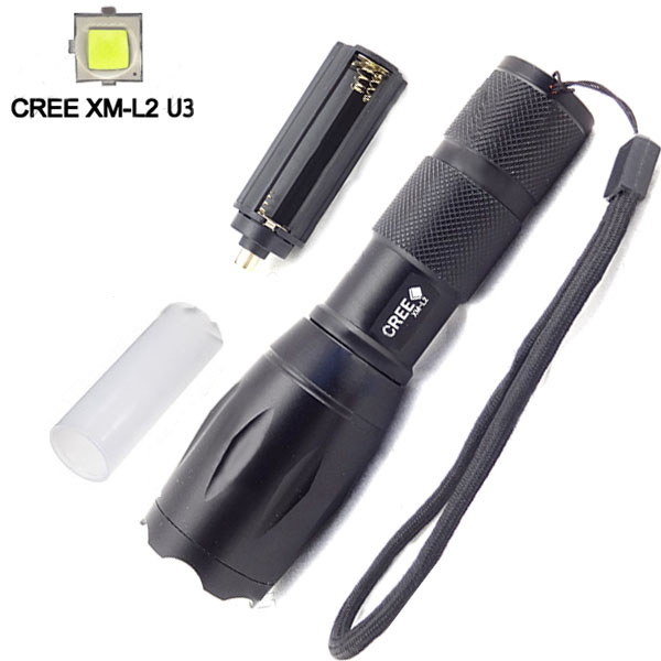 Ultrafire CREE XM-L2 U3 2000LM 5 Modes Zoomable LED Flashlight