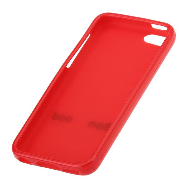 Pure Color Soft Plastic Back Case With Banggood Logo For iPhone 5C