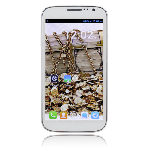 CUBOT P9 5 Inch 4G ROM Android 4.2 Dual Core MTK6572W Smartphone White