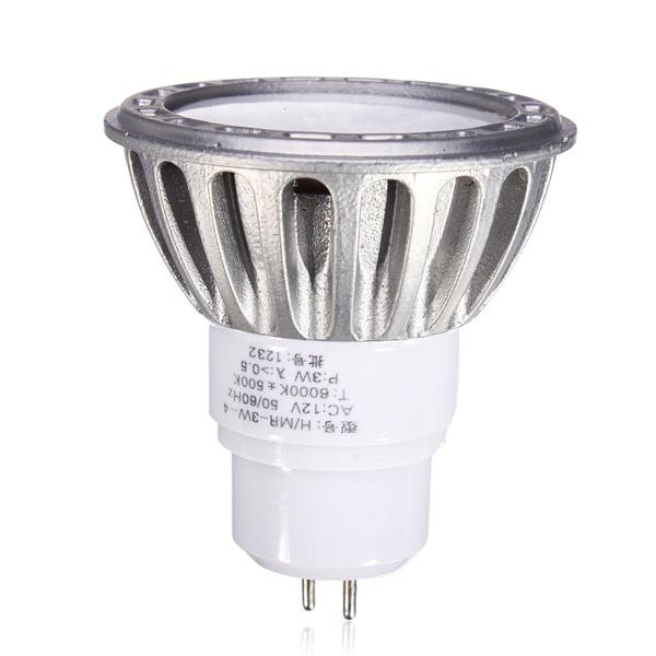 MR16 COB 3W White LED Spot Light Lamp Bulb DC/AC 12V