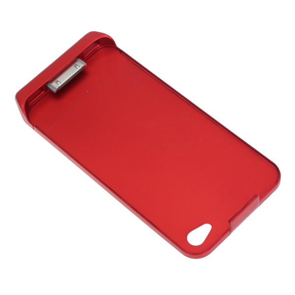 Ultra-thin 1800mAh Charging Case Cover With Stand For iPhone 4