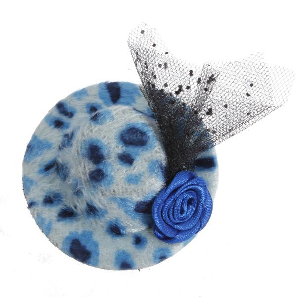 Leopard Print Small Feather Hat Children Hair Accessories