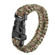 Multi-color Cord Outdoor Quick Release Survival Bracelet With Whistle