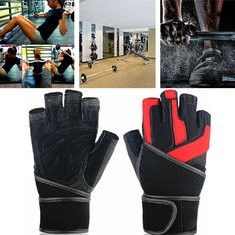 Riding Gym Training Grip Wrist Wrap Weight Lifting Half Finger Gloves