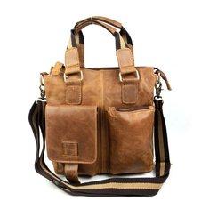 Genuine Leather Men Shoulder Bags Briefcase Business Messenger Bags