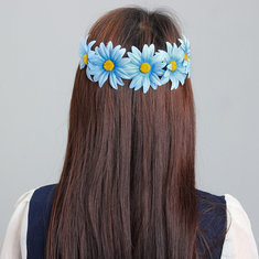 Boho Style Daisy Flower Floral Hair Garland Headband Hairband