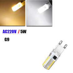 Dimmable G9 5W White/Warm White 72 SMD3014 LED Corn Light Bulb AC 220V