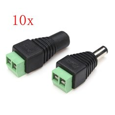 10 x Male Female 12V DC Power Plug Jack Adapter Connector for CCTV