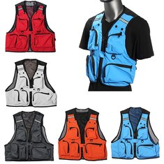 Multi Pockets Fishing Hunting Mesh Vest Mens Outdoor Leisure Jacket