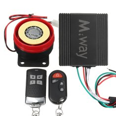 Motorcycle Scooter Dual Remote Control Anti-theft Alarm Security System Immobiliser