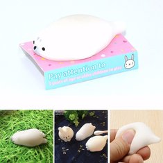 Seal Squeeze Squishy Toy White 4cm Creative Christmas Gift
