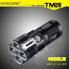NiteCore TM26 4x XM-L2 U3 4000LM LED Flashlight 2015