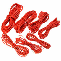 5 Meter Red Silicone Wire Cable 10/12/14/16/18/20/22AWG Flexible Cable
