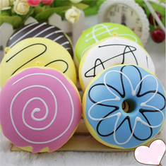 9CM Random Squishy Simulation French Donuts Slow Rising Squishy Fun Toys Decoration