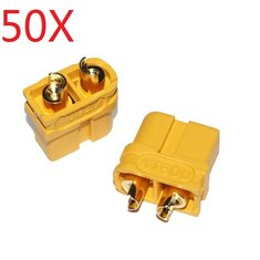 50X Upgraded Amass XT60U Male Female Bullet Connectors Plugs for Lipo Battery 1 Pairs