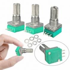 3Pcs 6MM Knurled Shaft Single Linear B 10K Ohm Rotary Potentiometer WF