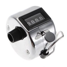 4 Digit Number Clicker Golf Hand Held Tally Counter New