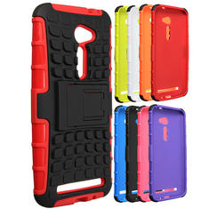 Armor Hybrid TPU Stand Case Cover For ASUS Zenfone 2E/ZE500CL 5.0 Inch