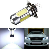 H7 7.5W 5 LED Pure White Fog Head Tail Driving Car Light Bulb