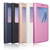 View Smart Window Flip Leather Case Cover For Samsung Galaxy S6 Edge Plus
