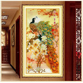 124x69cm Magnolia Peacock Cross Stitch Kit DIY Embroidery Set Home Decor