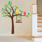 Cartoon Owl Wall Stickers For Kids Rooms Home Decoration