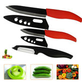 3PCS Cooking Tools Black Blade Ceramic Knife Kitchen Knives Set