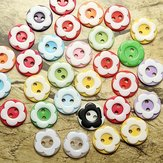 60Pcs Resin Plum Flower Sewing Button Scrapbook Clothing Accessories