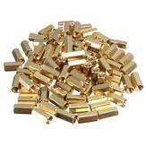 100pcs M3 10mm Brass Female Hex Hexagonal Screw Nut Pillar