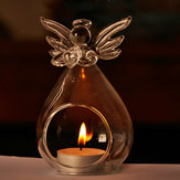 Angel Glass Candle Holder Candelabrum Hanging Candlestick Candlelight Dinner Home Party Decor