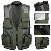 Mens Breathable Outdoor Quick Dry Mesh Multi Pocket Vest Tactical Fishing Sleeveless  Vest