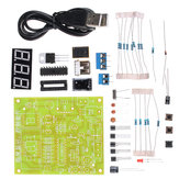 DIY Electronic 4bit Display Temperature Control Kit With USB Port And Power Supply Cable