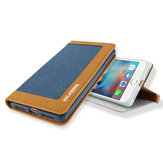 For iPhone 7 4.7 Inch Linen Leather Flip Over Wallet Kickstand Case With Card Slot Lanyard