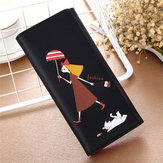 Women Long Wallet Cute Cartoon figure Printing Purse Girl Card Holder Coin Bags