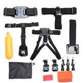 15 In 1 Shoulder Chest Harness Belt Strap Mount Adapter Kit For GoPro Hero 4 3 SJCAM Xiaomi Yi Camera