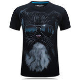 Mens Summer 3D Cool Printing O-neck T shirts S-4XL PLus Size Short Tees