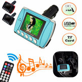 1.8 inch CSTN Car MP3 MP4 Music Player Wireless FM Transmitter TF USB Charge Remote