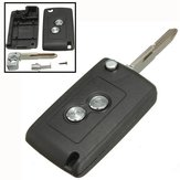 Flip Fold 2 Buttons Remote Entry Key Keyless Shell Case for Citroen Peugeot
