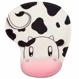 Cute Pink Cow Wristband Mouse Pad With Rest Wrist Support