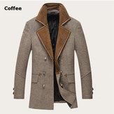 Winter Casual Mens Wool Coat Fashion Dust Coat Style Long Jacket