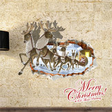 3D Christmas Reindeer Santa Claus PAG STICKER Wall Decals Sticker Home Wall Decor Gift