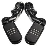1.25inch 32mm Adjustable Foot Pegs Pedals Short Angled For Harley Davidson Black