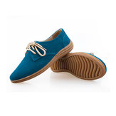 Women Chic British Style Soft Sole Casual Flat Lace Up Oxford Shoes