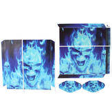 Fantasy Game Theme Sticker Decal Skin for Playstation 4 PS4 Console Controller The Blue Skull