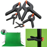 2 Inch - 9 Inch Heavy Duty Plastic Nylon Spring Clamp Clip Tips For Photography Background Plate