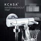 KCASA™ Copper Double Control Switch Water Knockout Trap Three Way Angle Valve Bath Water Diverter